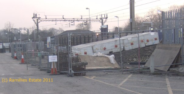 View of Cheadle Hulme Staton Platform 4 access from Car Park